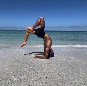 Joshua Martin partners with Unwind Massage and Wellness for Backyard Yoga